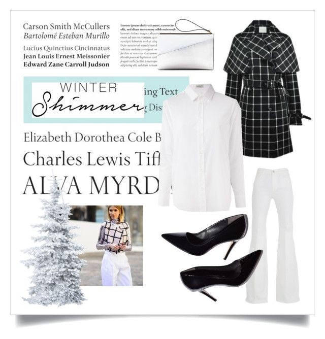 """""""holiday sparkle with the realreal: contest entry"""" by jefferyvandeven ❤ liked on Polyvore featuring Tiffany & Co., Marni, 7 For All Mankind and Yves Saint Laurent"""