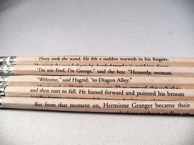 Harry Potter quote pencils!