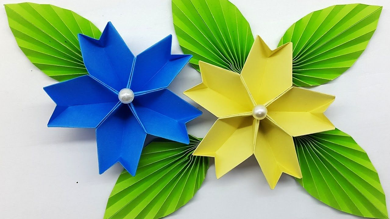 How To Make Easy Beautiful Paper Flower Origami Easy Paper
