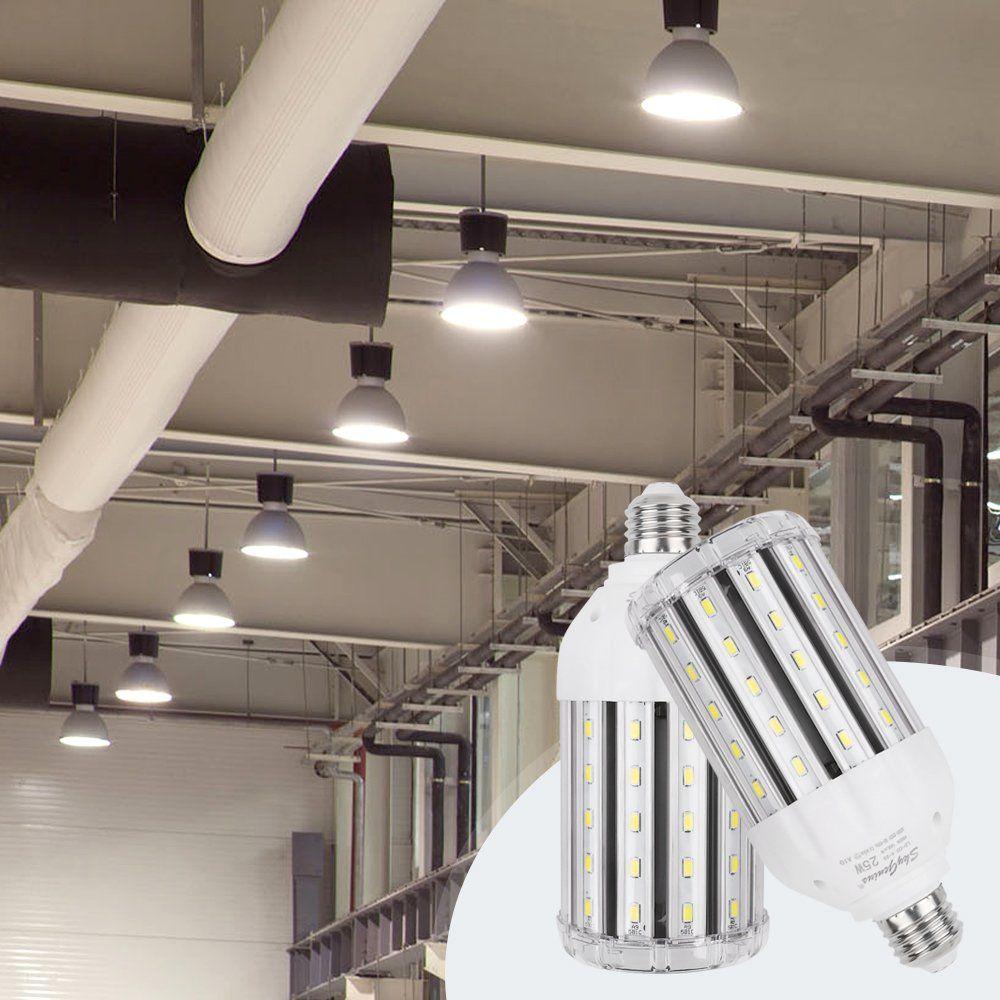 35w Daylight Led Corn Light Bulb For Indoor Outdoor Large Area E26 3500lm 6500k Cool Whitefor Street Lamp Post L With Images Post Lighting Street Lamp Post Led Light Bulb