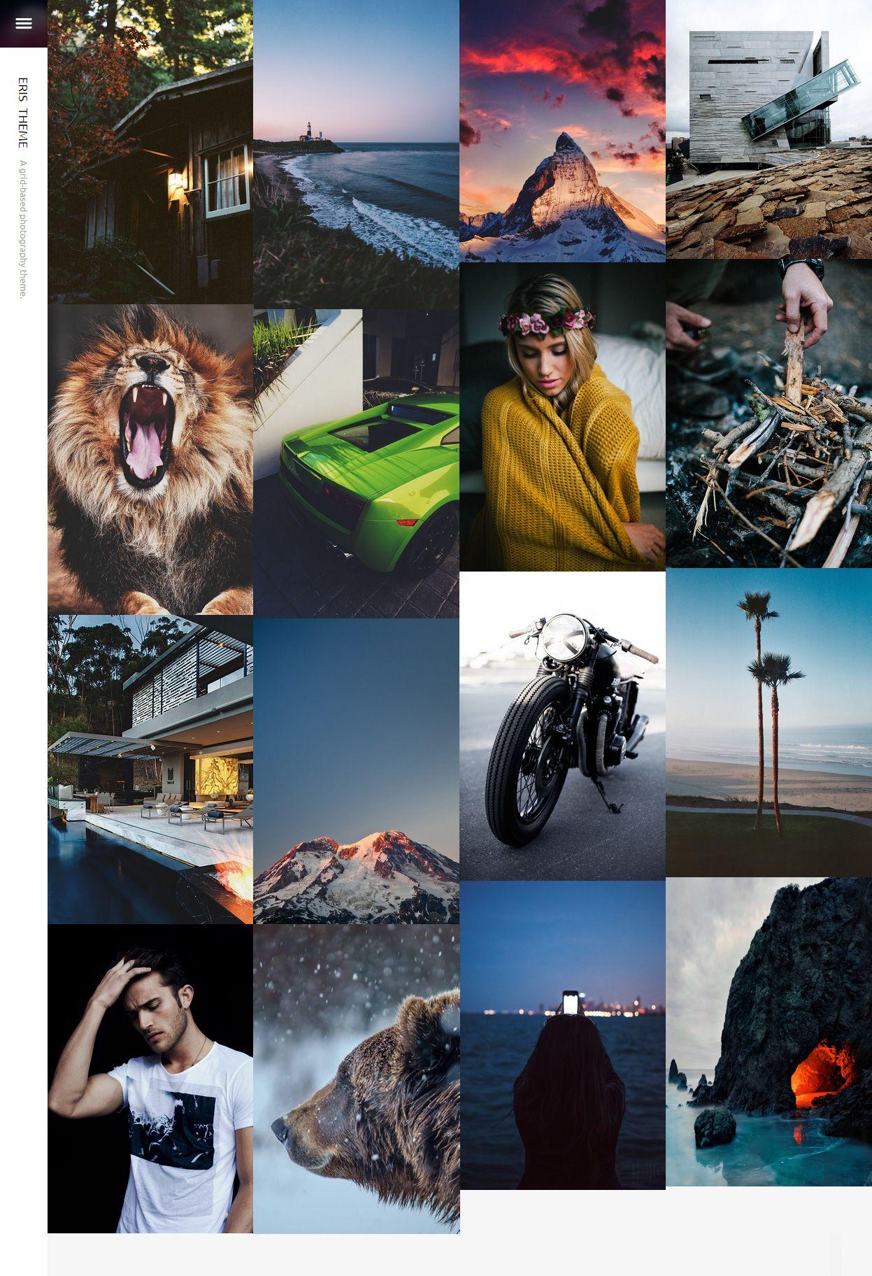 Eris - Premium Responsive Photography Tumblr Theme | Tumblr