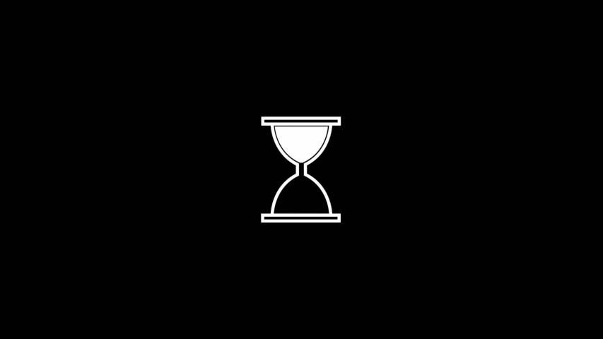 Hourglass Waiting Sign for Computer Stock Footage Video