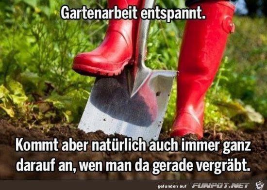 Gartenarbeit  Gartenarbeit entspannt.jpg   witzige Bilder   Pinterest
