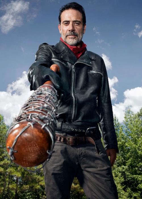 Jeffrey Dean Morgan as Negan photographed by Matthias Clamer for Entertainment Weekly