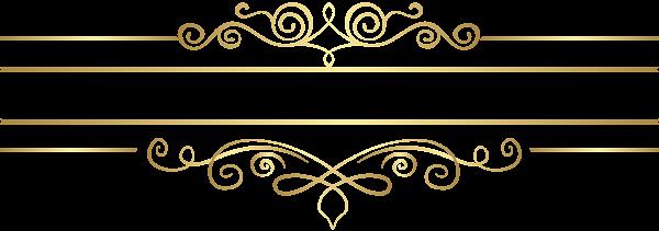 Gold Decorative Element Transparent Clip Art Clip Art Decorative Lines Art