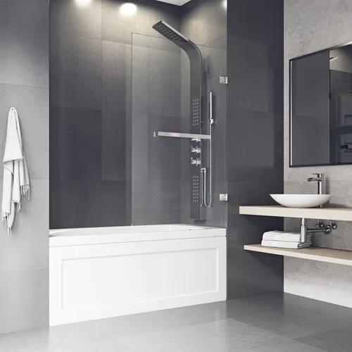 Rialto 34 X 58 Hinged Frameless Tub Door Bathtub Doors Frameless Shower Doors Shower Doors