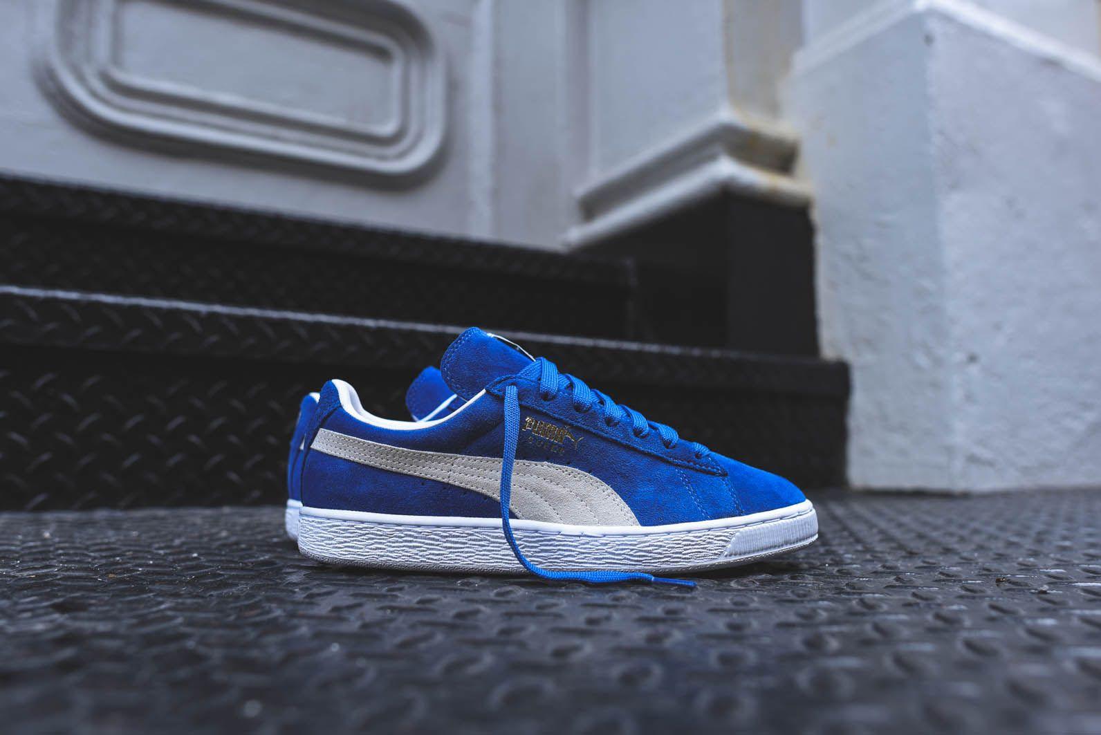 puma classic suede blue