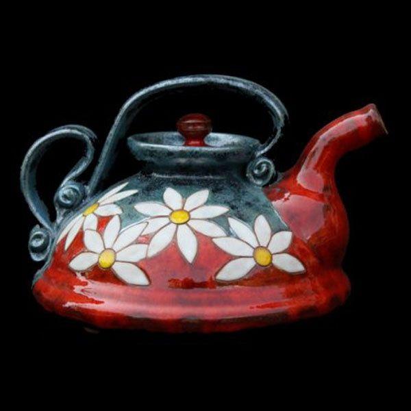 Bulgarian pottery teapot