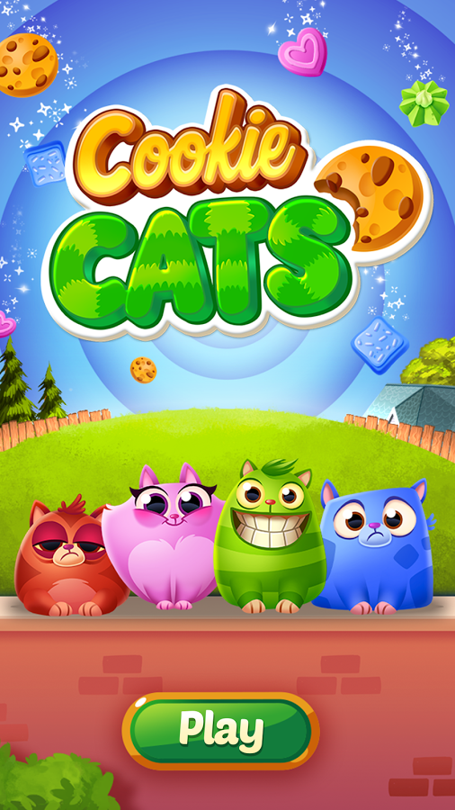 Download the COOKIE CATS game in GOOGLE PLAY STORE. It's