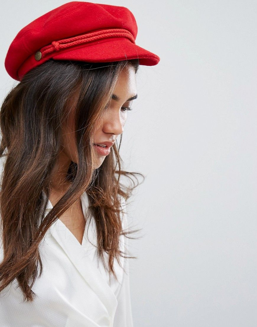a04f0e23c8b Brixton Baker Boy Hat in Red in 2019