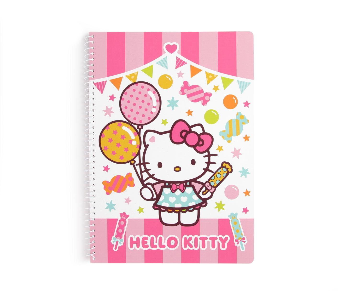 Hello Kitty Spiral Notebook: Carnival Collection