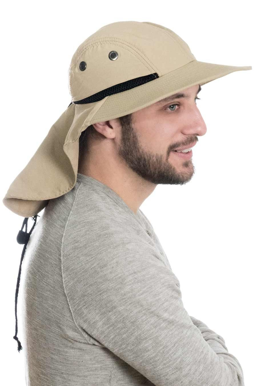 Mens Flap Hat Sun Protection Outdoor Brimmed Hat For Men Flap Hat Sun Protection Hat Hat For Man