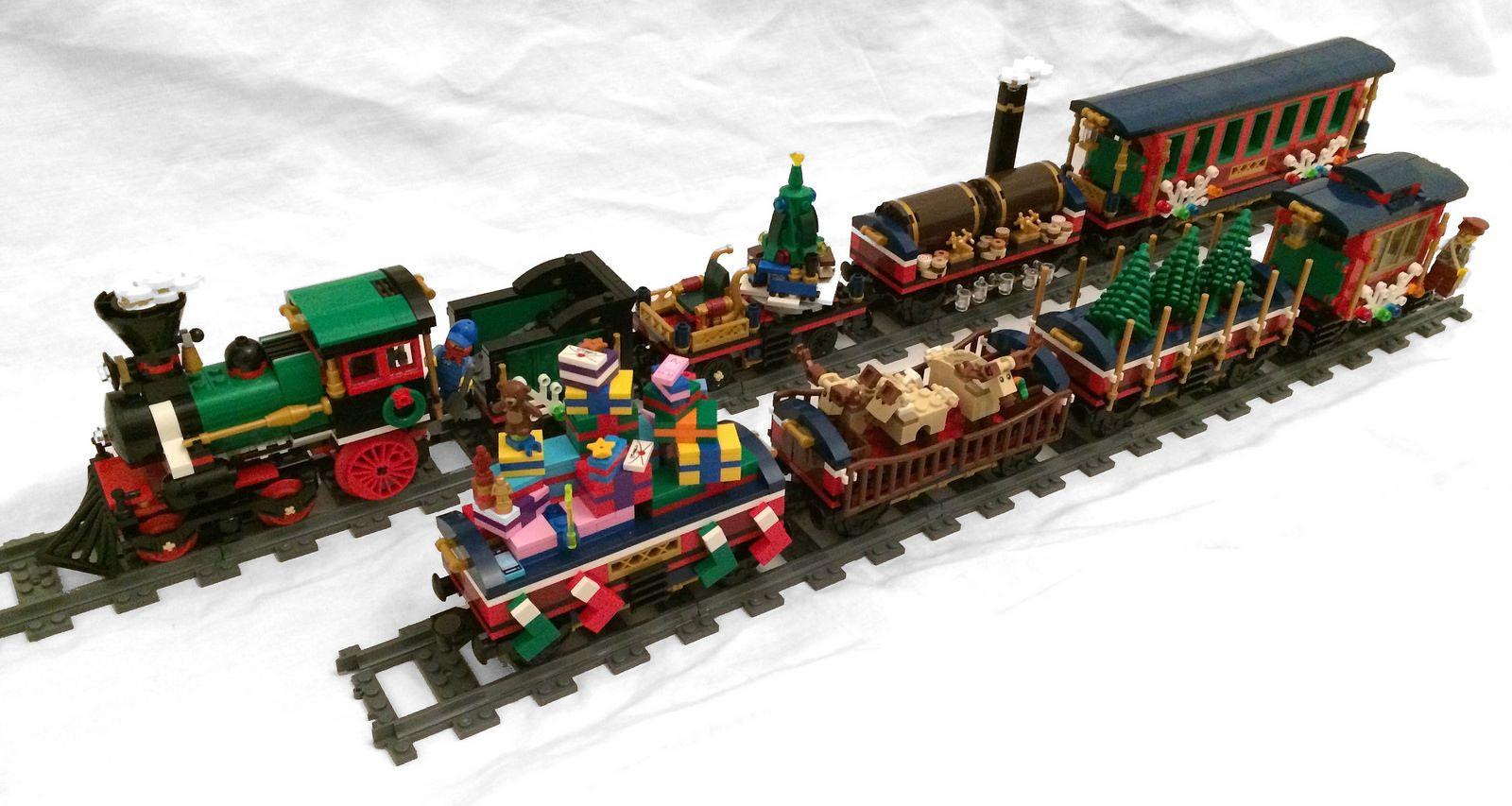 Lego Christmas Train.Lego 10254 Winter Holiday Train Custom Wagons For Winter