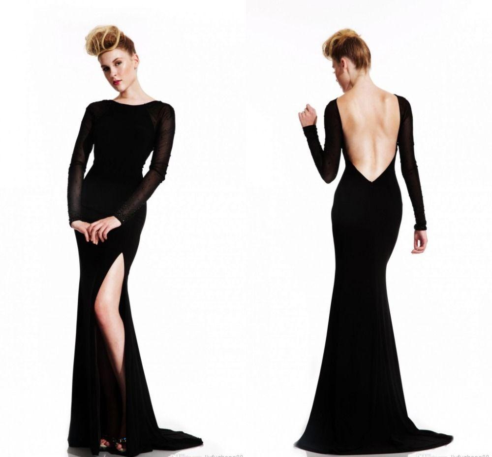 Backless Purple wedding Pinterest Long sleeve backless dress