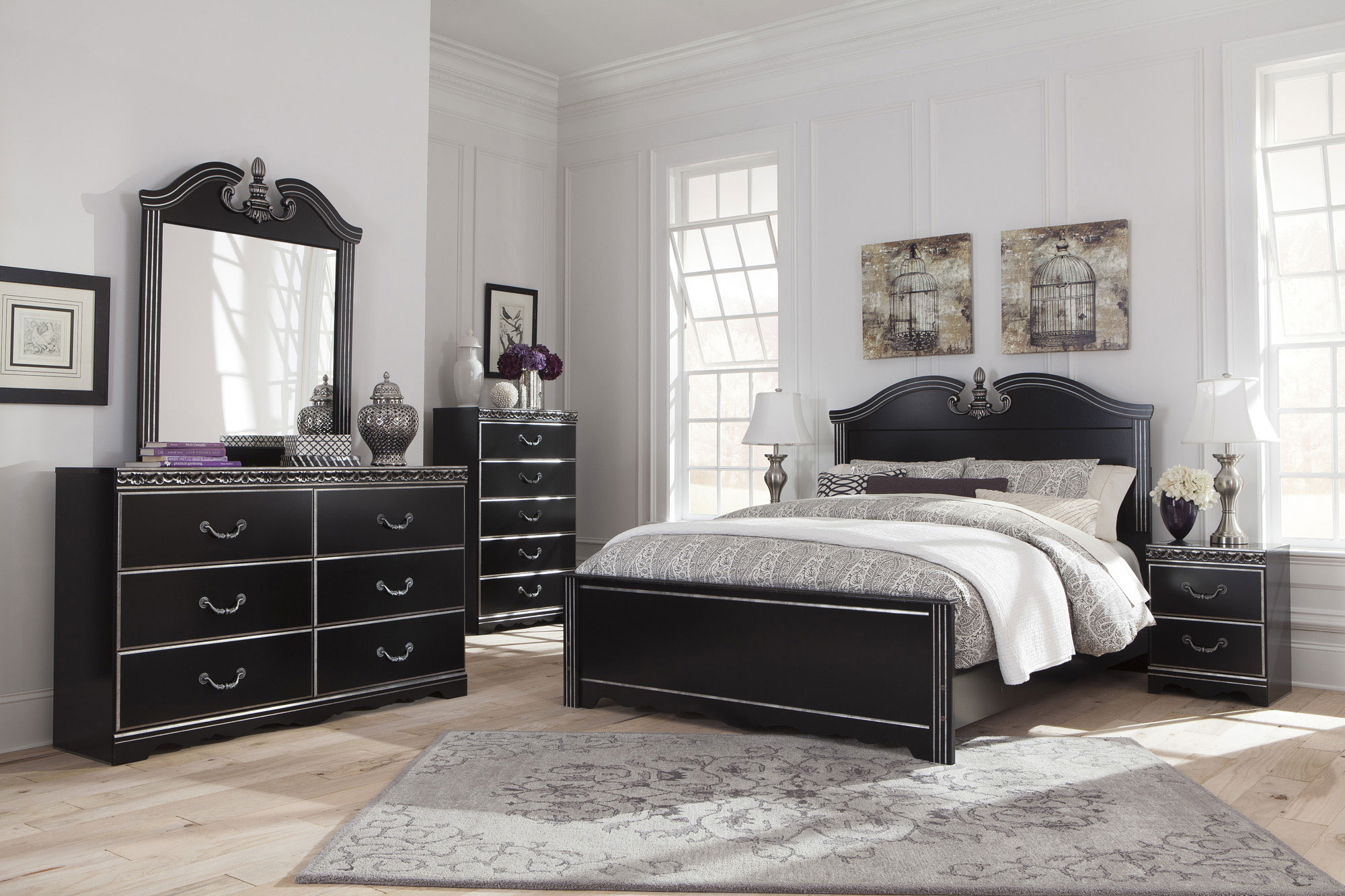 Navoni Queen Panel Bed Ashley Home Gallery Stores