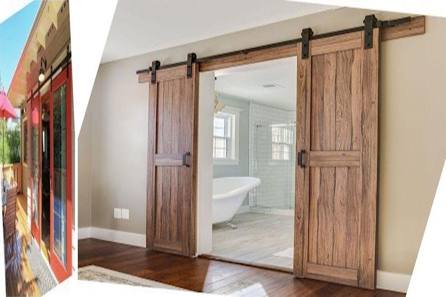 Double Sliding Barn Doors Small Barn Door Kit Old Barn Doors