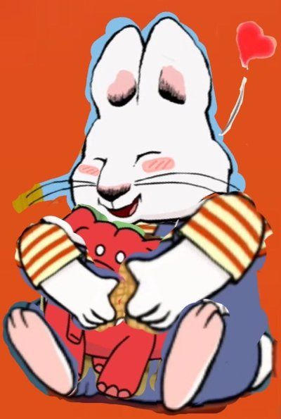 anime max hugging his red rubber elephant max ruby pinterest hug