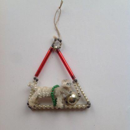 Ёлочная игрушка Собачка с мячиком Стеклярус (торги ...