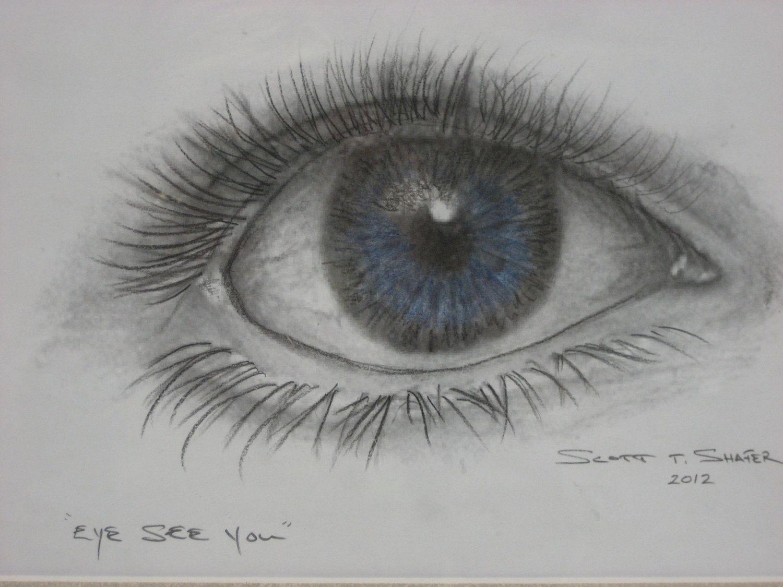 Pencil Drawing Of The Human Eye