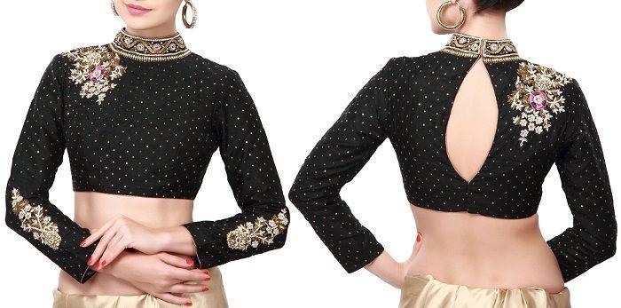 Saree Blouses Front \u0026 Back Neck Designs