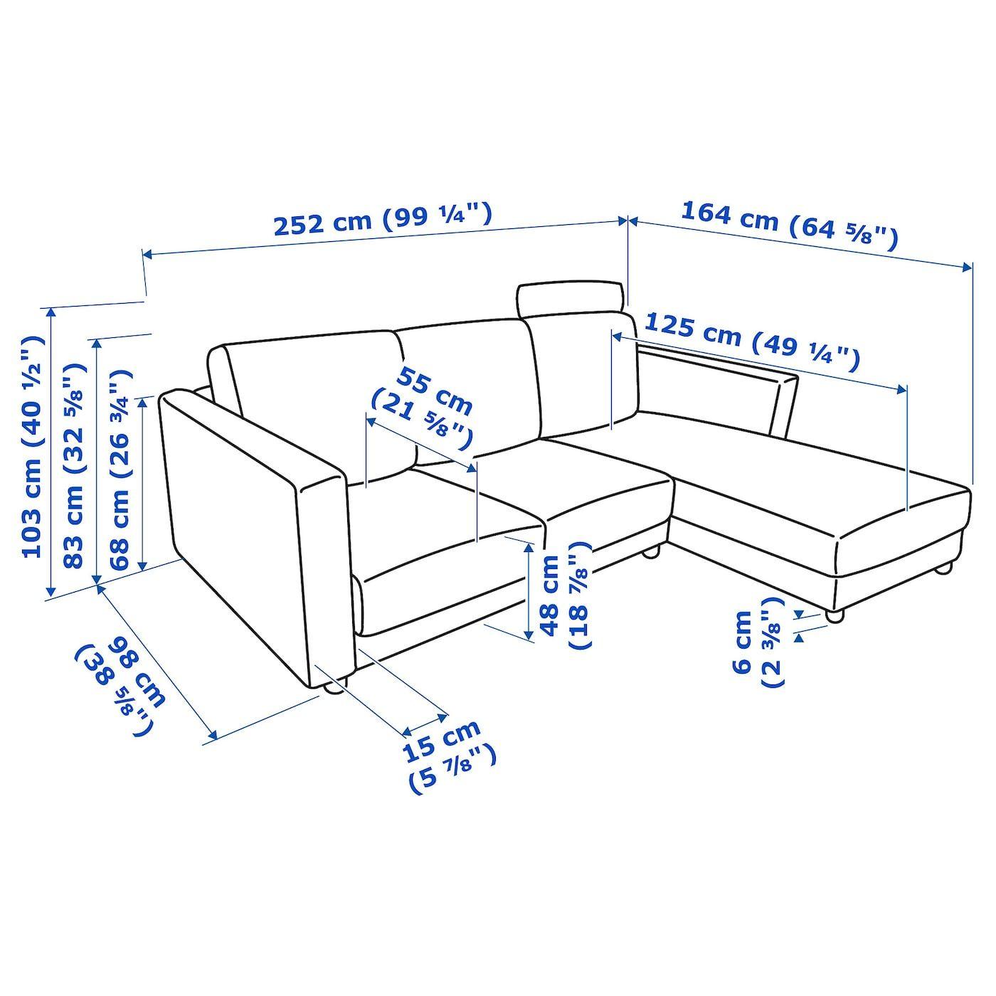 Vimle 3er Sofa Mit Recamiere Mit Nackenkissen Gunnared Mittelgrau Ikea Osterreich 3er Sofa Recamiere Und Ruckenpolster
