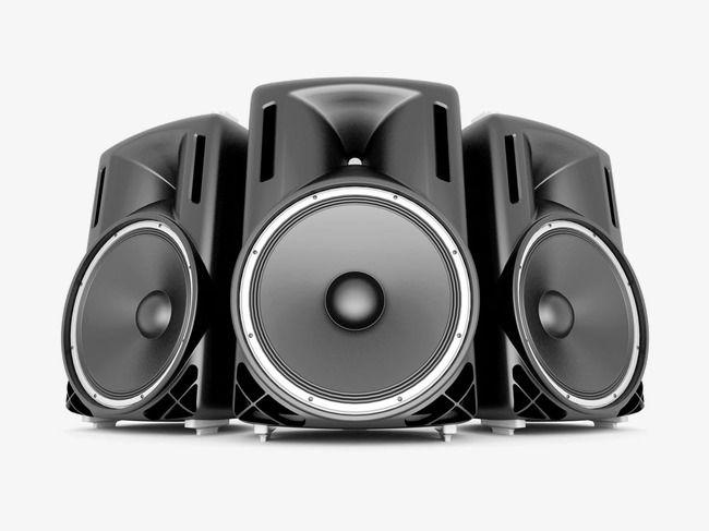 Speakers Simbolos Musicais Vida De Bombeiro Arte Da Animacao