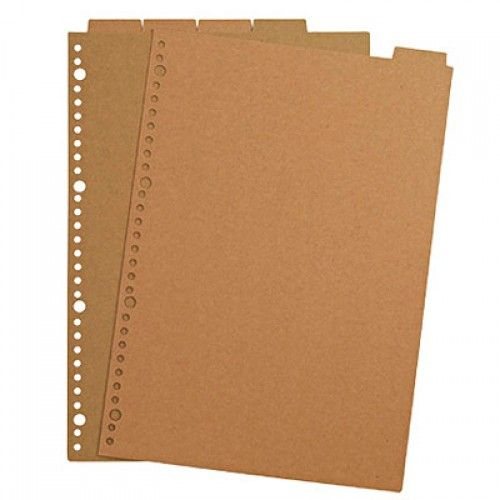 Top-tab Recycled Paper Refill Index A4 Organization Pinterest - resume paper office depot