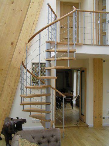Best Genius Wire Spiral Stair Bespoke Range With Wooden 400 x 300