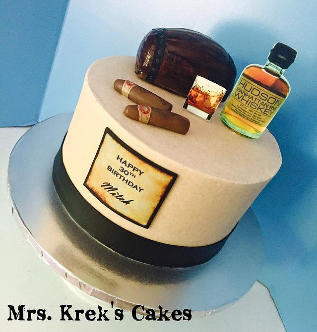 30th birthday whiskey and cigars cake www.mrskrek.com | Cakes in ...