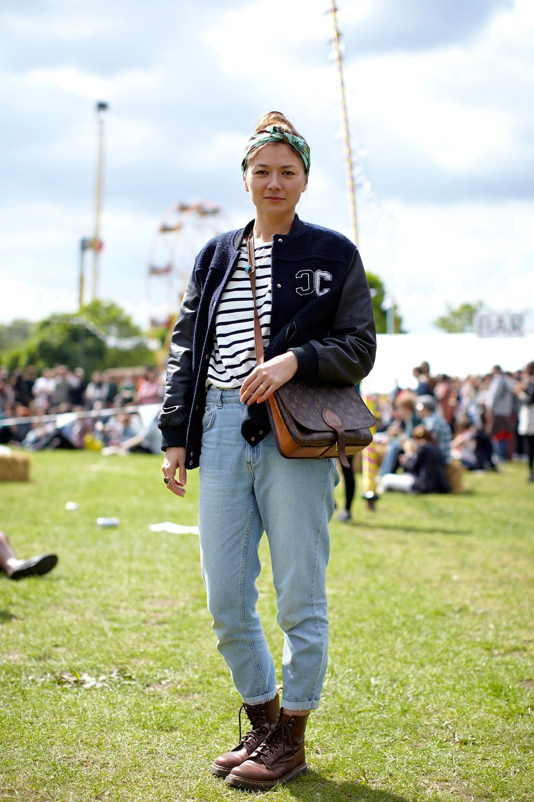 Name: EllenOccupation: Magazine editorHood: HackneyWhat she's wearing: Topshop jeans, Whistles jacket, Silken Forever headband, Olive top, Louis Vuitton handbag, and Dr. Martens boots.  #refinery29 http://www.refinery29.com/field-day-festival#slide-22