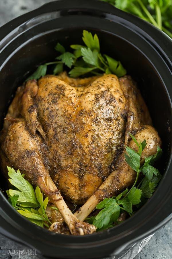 Photo of Crockpot Turkey with Garlic Butter – The Recipe Rebel