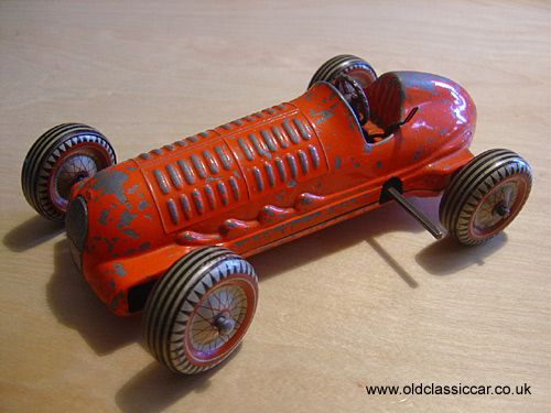 Mettoy Toy Racing Car Clockwork With Gears S