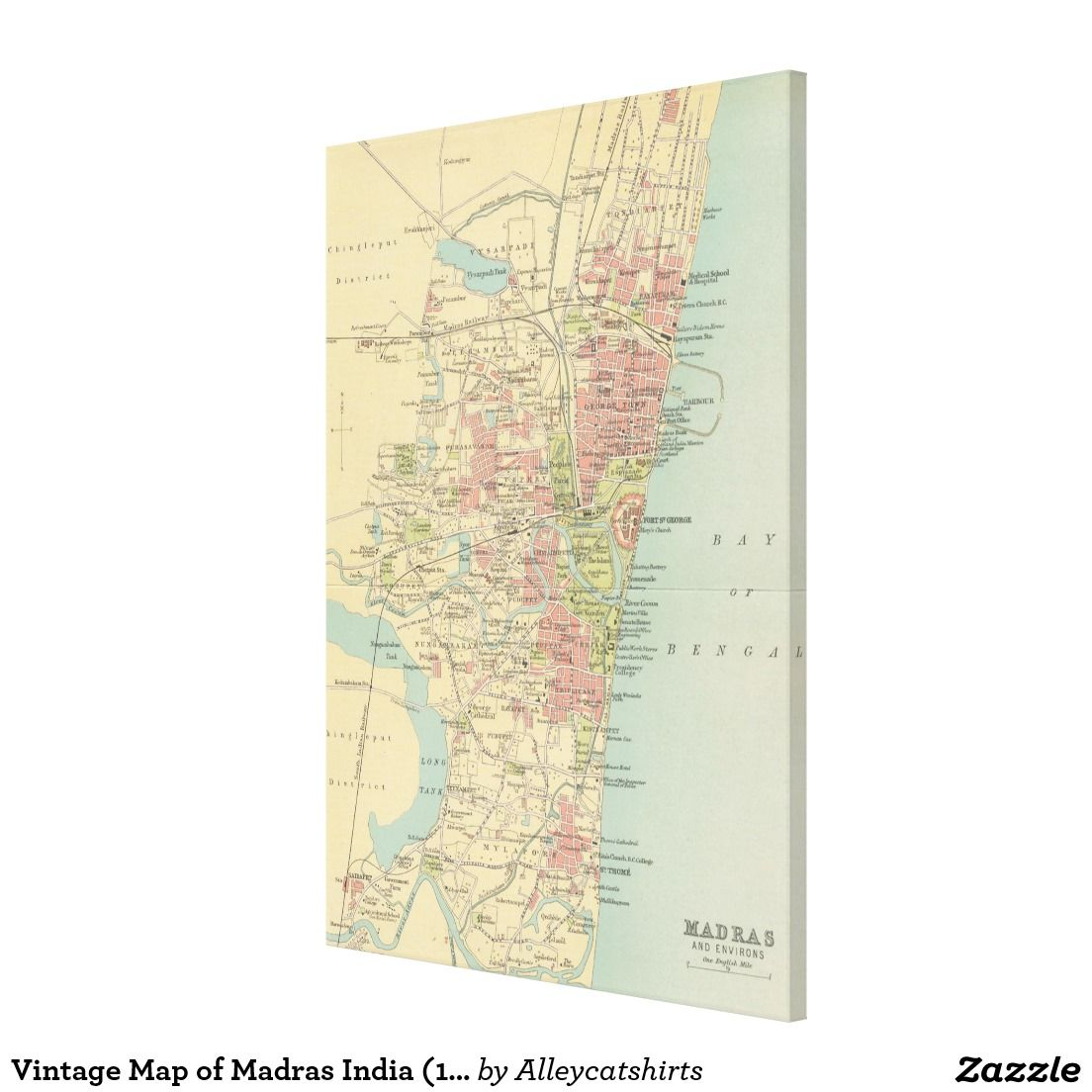 Vintage Map of Madras India (1909) Canvas Print | Zazzle.com ... on oslo norway on map, bora bora tahiti on map, medellin colombia on map, xiamen china on map, dublin ireland on map, bremen germany on map, madrid spain on map, port elizabeth south africa on map, copenhagen denmark on map, kuala lumpur malaysia on map, guangzhou china on map, bucharest romania on map, stockholm sweden on map, buenos aires argentina on map, phuket thailand on map, nice france on map, jakarta indonesia on map, shannon ireland on map, munich germany on map, cape town south africa on map,