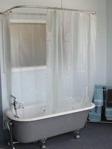 Wrap Around Shower Curtain Clawfoot Tub