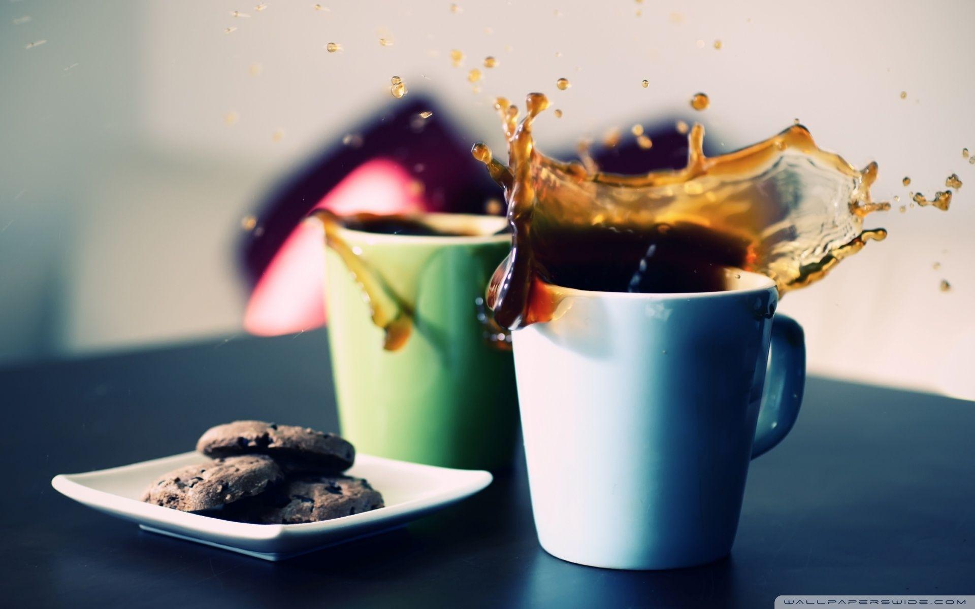 Coffee Wallpaper 3 Coffee Splash Coffee Wallpaper Cookies Wallpaper Hd wallpaper milk splash cookies mug