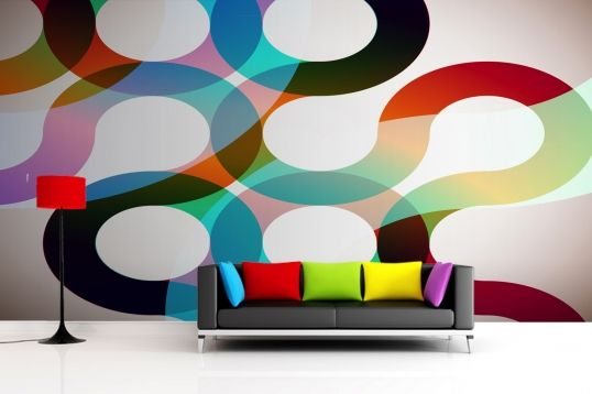70s Retro Swirl Mural Wallpaper Retro Wallpaper Kids Room