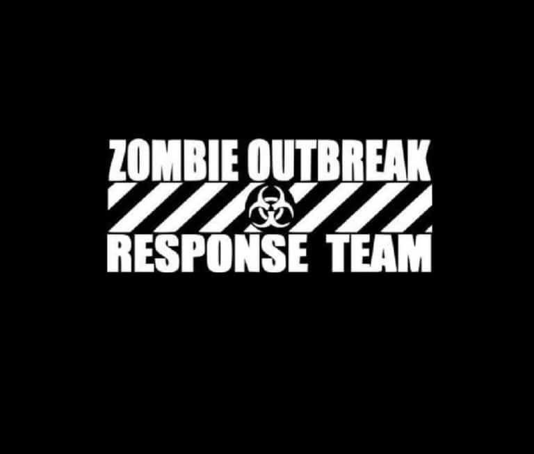 Custom vinyl sticker Jeep Cherokee XJ decal Zombie Outbreak Response Unit