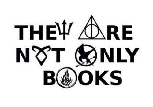 Percy Jackson, Harry Potter, Mortal Instruments, Hunger Games, Divergent