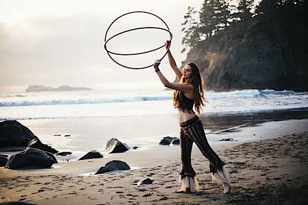We love this photo of Marley Jade and her hoops at Trinidad State Beach. She lives in Humboldt County, California, USA. Photo by NAT♥VON Pho...