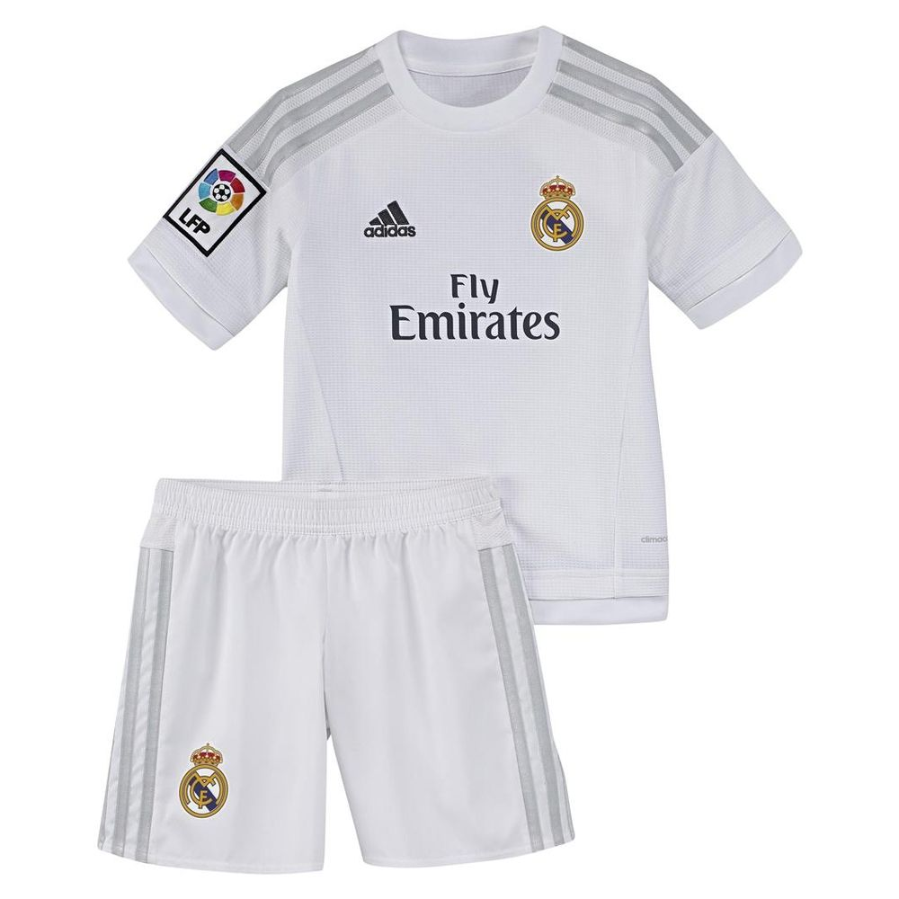 $64.99 Add to Cart for Price - Adidas Real Madrid Home Toddler Mini '15-'16  Soccer Kit (White/Clear Grey) | Real Madrid Soccer Jerseys | S12659 ...