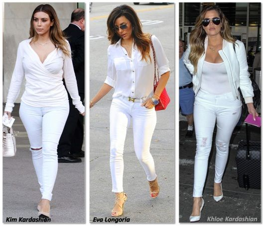 How-to-wear-White-Jeans.jpg (530×455) | babies | Pinterest | White ...