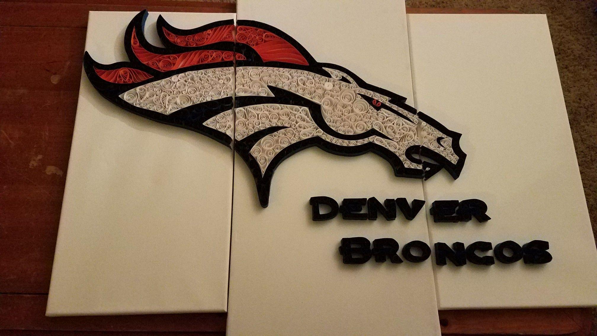 Erfreut Denver Broncos Gerahmte Kunst Bilder - Benutzerdefinierte ...