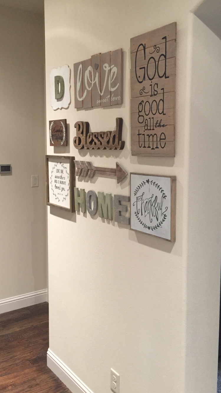 Love My New Gallery Wall Found Most Everything At Hobby