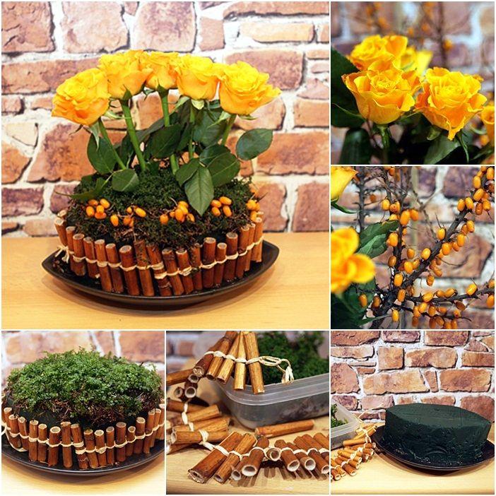 Creative DIY Flower Arrangements DIY Yellow Roses Arrangement