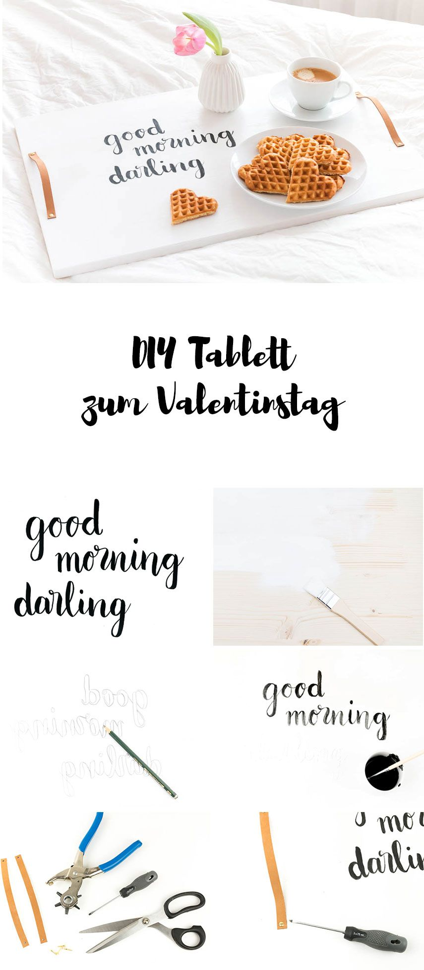 ein diy tablett zum valentinstag perfekt f rs fr hst ck im bett for rainy days pinterest. Black Bedroom Furniture Sets. Home Design Ideas