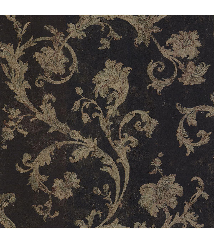 Denise Black Scroll Wallpaper Home Warehouse