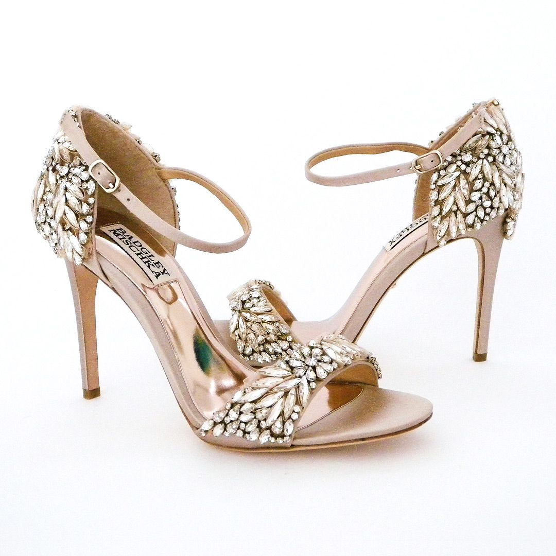da5036b495 Crystal encrusted bridal sandals that elevates the glam factor of any  dress. Wedding Shoes & Evening Shoes with major sparkle.