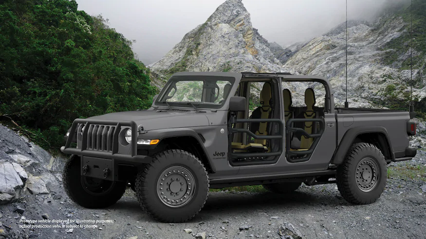Jeep Shows Off Xmt Military Spec Gladiator Pickup Truck Pickup Trucks Jeep Tactical Truck