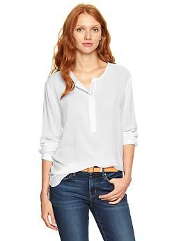 Fluid shirttail henley | Gap