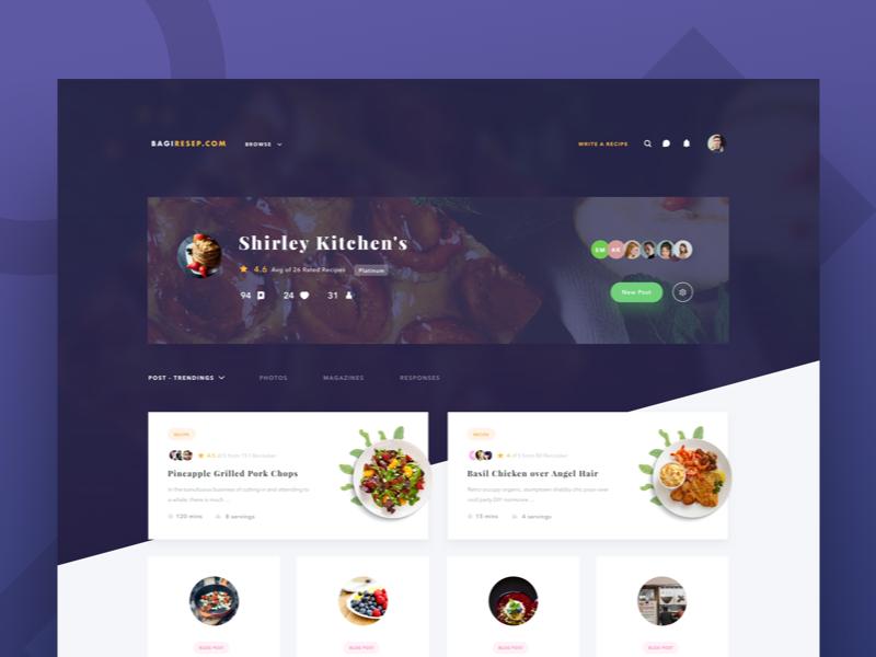 Exploration Recipe Profile Page Web Design Website Design Web Design Inspiration